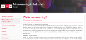 Microlearning in het mbo